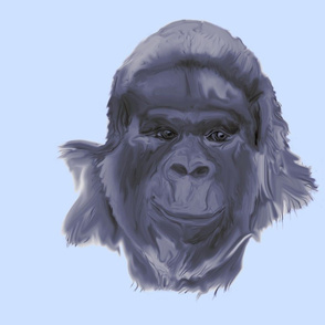 Gorilla on Blue for Pillow