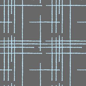 Gray Blue Crosshatch