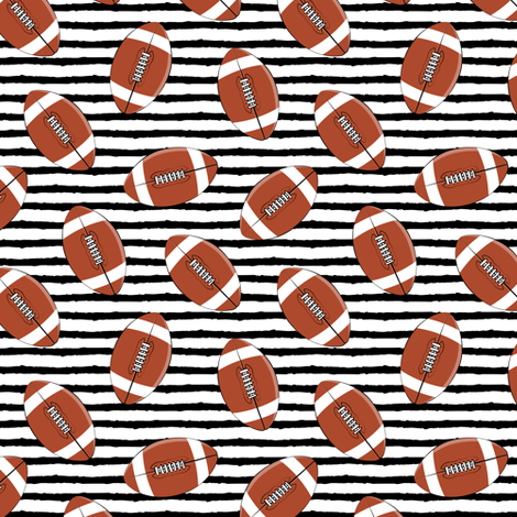 (small scale) college football (black stripes) fabric by littlearrowdesign on Spoonflower - custom fabric