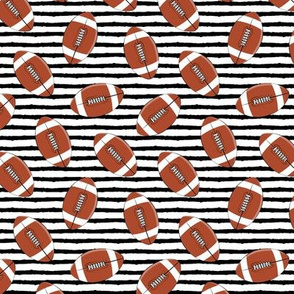 (small scale) college football (black stripes)