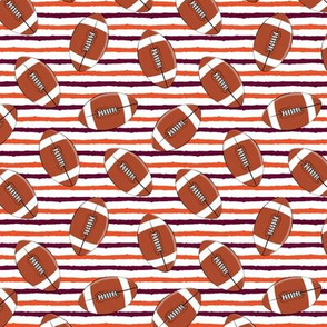 (small scale) college football (maroon and orange)