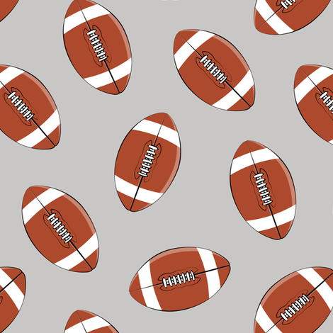 college football (grey) fabric by littlearrowdesign on Spoonflower - custom fabric