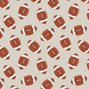 (small scale) college football - beige