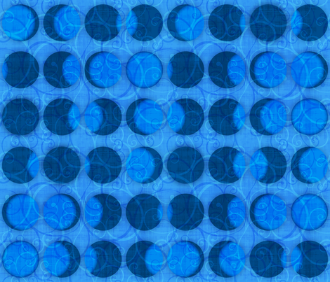 Solar Eclipse Swirls Light Blue fabric by wickedrefined on Spoonflower - custom fabric