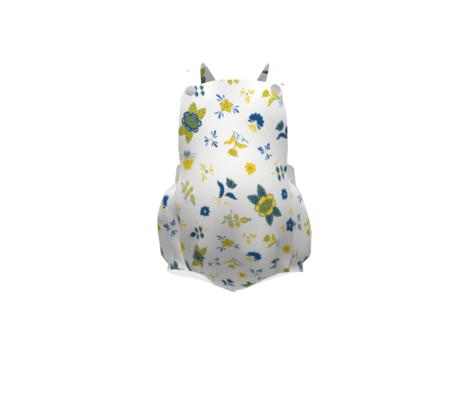 Swedish Folk Flowers Mixed Blue Yellow
