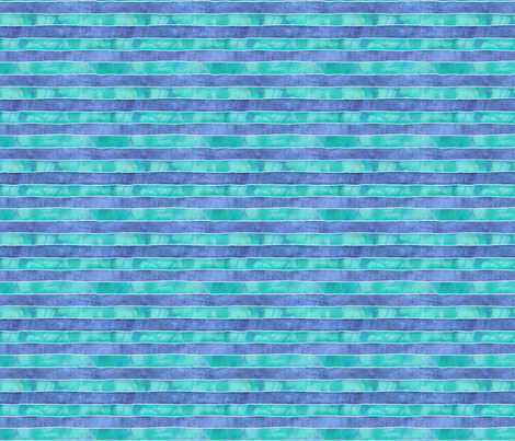 Spaceship-Stripes_Blues Small fabric by piper_&_paige on Spoonflower - custom fabric
