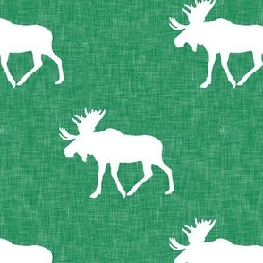 moose on green linen