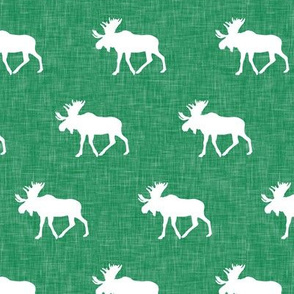 (small scale) moose on green linen