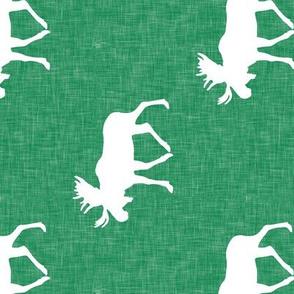 moose on green linen (90)