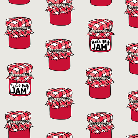 That's my jam - red fabric by littlearrowdesign on Spoonflower - custom fabric
