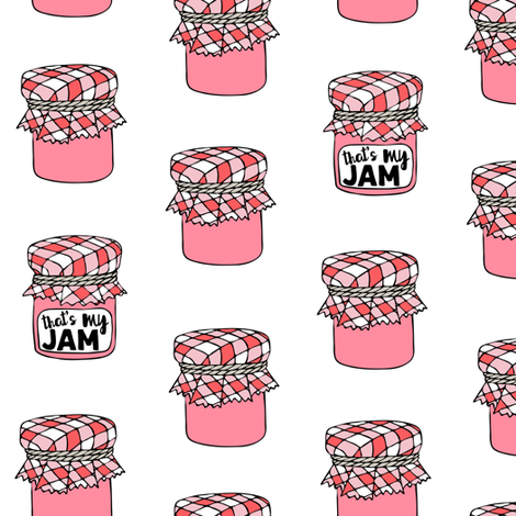 That's my jam - pink fabric by littlearrowdesign on Spoonflower - custom fabric