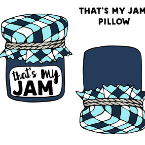Cut and sew pillow - that's my jam - blue