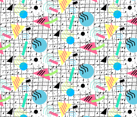 Memphis Style Vibes (Light) fabric by hollybender on Spoonflower - custom fabric