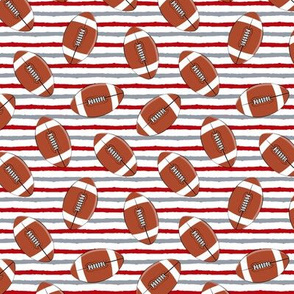 (small scale) college football - red and grey stripes