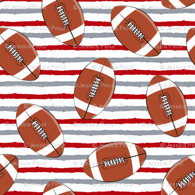 college football - red and grey stripes