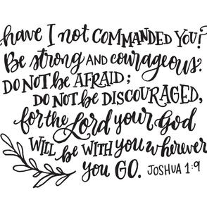 Joshua 1:9 Baby Swaddle