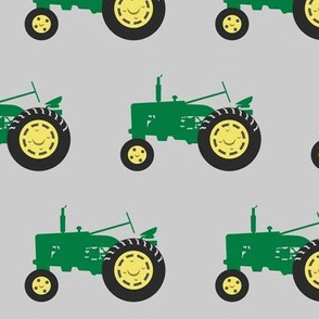 (large scale) tractors - green on grey