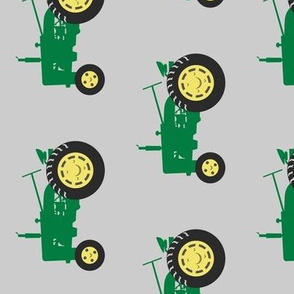(large scale) tractors - green on grey (90)