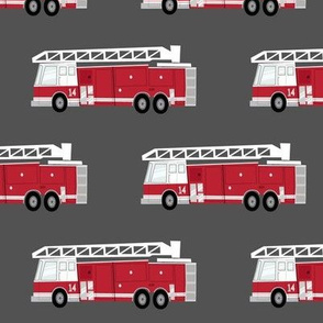 (large scale) fire trucks - dark red