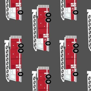 (large scale) fire trucks - dark red (90)