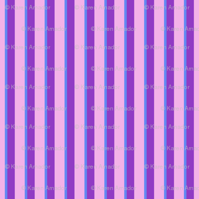 Cutie Moons Purpley Stripes - Large