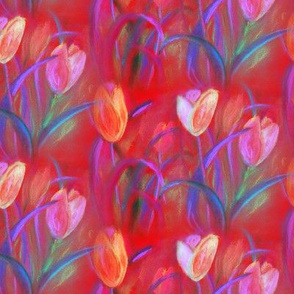 TULIP FIELDS BOUQUET RED