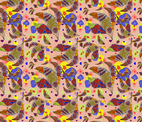 Bohemian fabric by annie_v_designs on Spoonflower - custom fabric