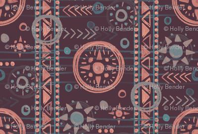Bohemian Geometry Plum