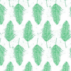 Faded Feathers - Green