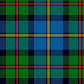"MacLeod of Harris / green MacLeod / MacLeod hunting tartan, 6"" modern colors"