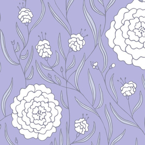 Lavender & White Dahlias