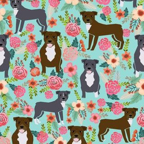 pitbull dog fabric florals dogs and flowers fabric
