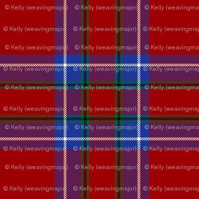 "Inverness tartan, 6"" modern (blue/green stripe)"