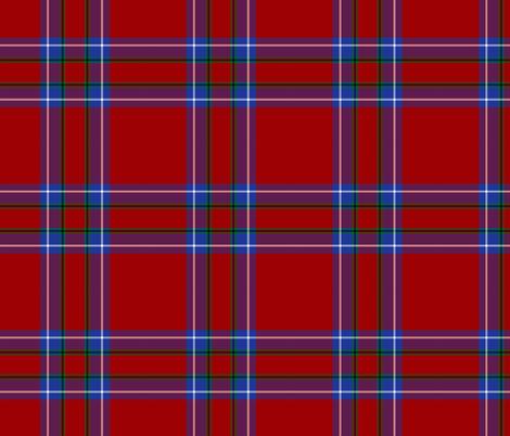 "Inverness tartan, 6"" modern (blue/green stripe) fabric by weavingmajor on Spoonflower - custom fabric"