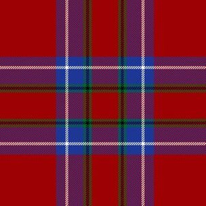 "Inverness tartan, 6"" modern (blue/green stripe)"