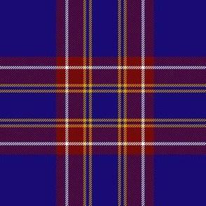 "Inverness hunting / Duke of York tartan, 6"" royal blue"