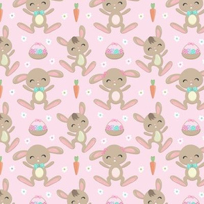 Hopping Easter Bunny Pink