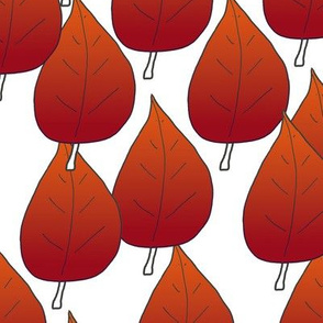 Red Autumn Leaves Upholstery Fabric