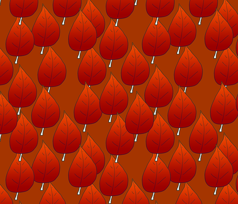 Red Leaves Autumn Themed Upholstery Fabric fabric by llukks on Spoonflower - custom fabric