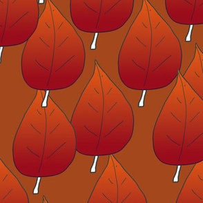 Red Leaves Autumn Themed Upholstery Fabric