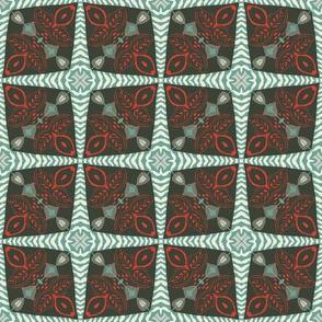 Folk Art Mid-Century Christmas Quilt
