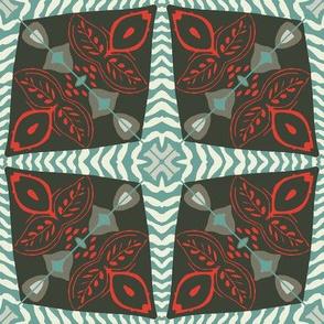 Folk Art Mid-Century Tile