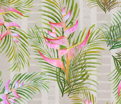 Heliconia Tapa Beige 150 fabric by kadyson on Spoonflower - custom fabric