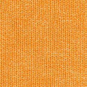 Market-day sweater: squash orange faux knit