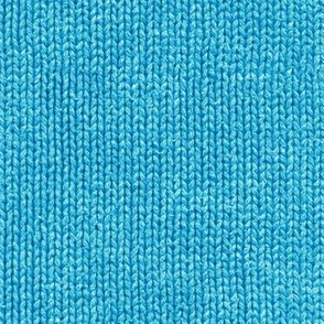 Bright blue faux knit