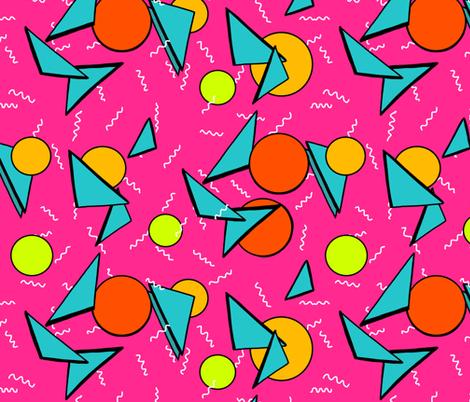 Memphis style nacho cheesiest fabric by beesocks on Spoonflower - custom fabric