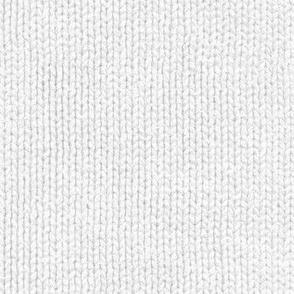 pale grey faux knit