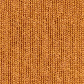 pumpkin orange faux knit