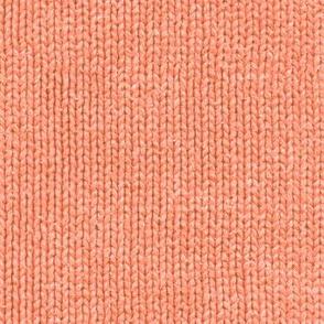 Surf coral faux knit