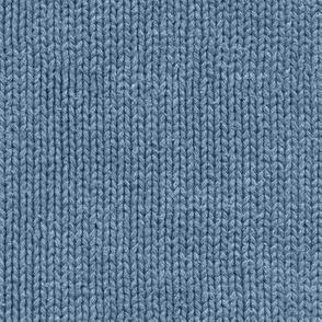 denim blue faux knit